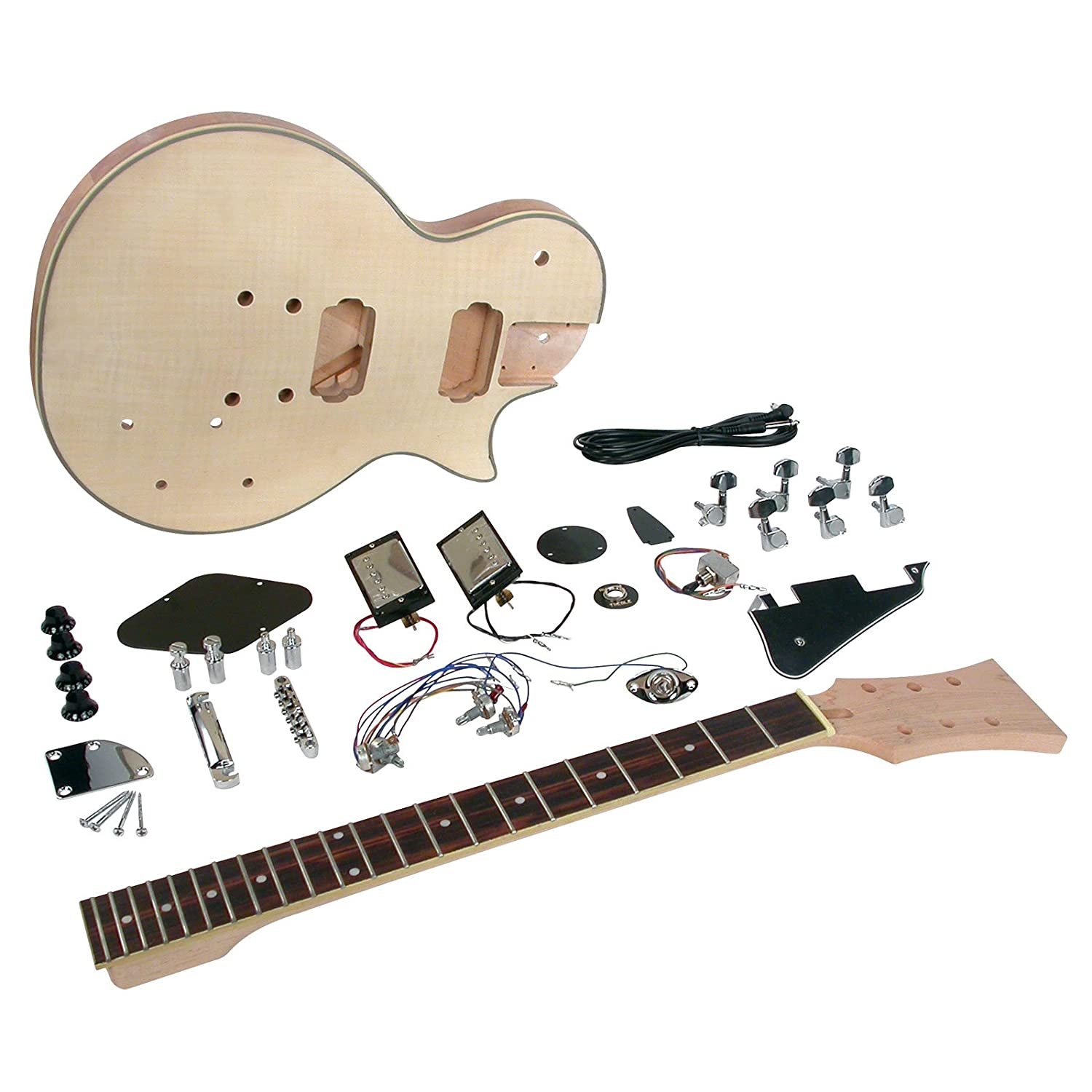 saga lc 10 deluxe electric guitar kit single cutaway