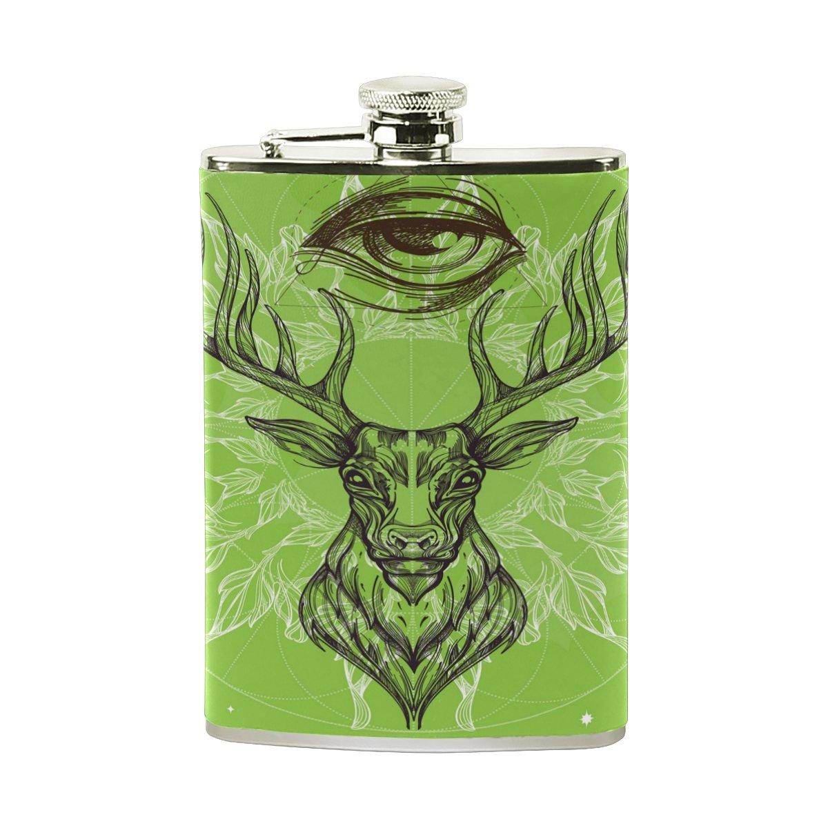 【T-ポイント5倍】 Alaza Deer B075YTSTKK 8オンスステンレススチールヒップフラスコPUレザーWrappedカバーHeavy Whiskey DutyポケットショットのフラスコLiquor Whiskey Vidkaラム Vidkaラム B075YTSTKK, 四季物ひろば:84915f58 --- a0267596.xsph.ru