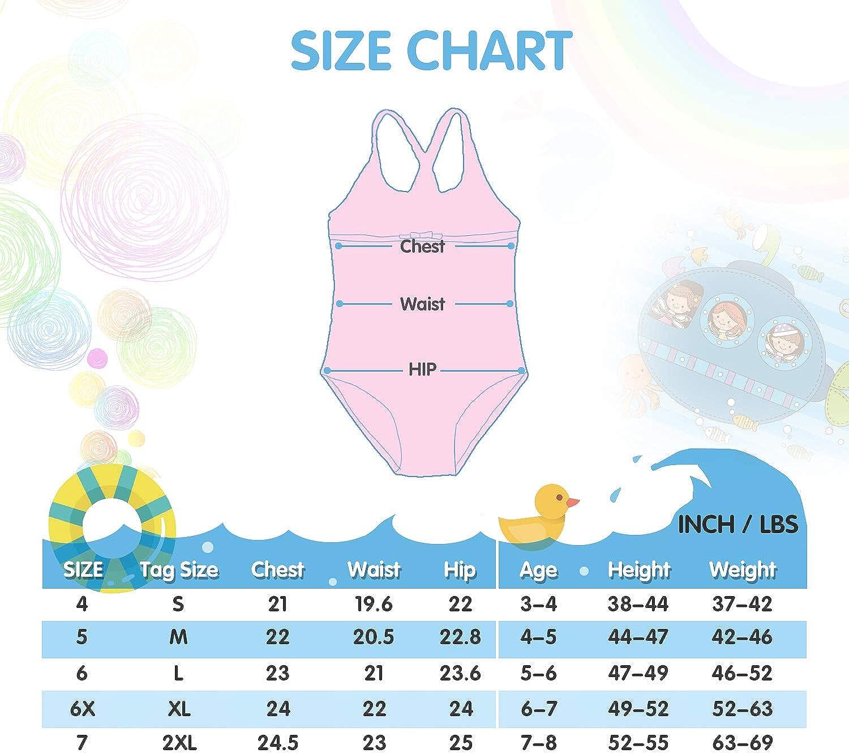 TERODACO Little Girls One Piece Swimsuit Bathing Suit Ruffle Beach Swimwear