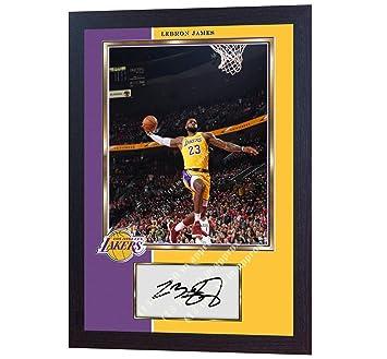 best website 23547 d462a SGH SERVICES Framed LeBron James Los Angeles Lakers NBA ...
