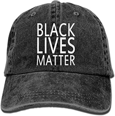 Cotton Hats Adjustable Mens Denim Baseball Caps Black Lives Matter Custom