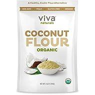 Organic Coconut Flour for Gluten Free Baking, Paleo & Vegan Certified, Unbleached & Unrefined Baking Flour Substitute, 4 lbs (1.81 kg)