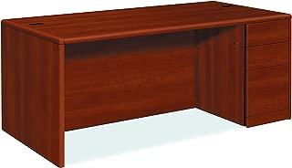 product image for HON 10787RCO 10700 Single Pedestal Desk, Full Right Pedestal, 72w x 36d x 29 1/2h, Cognac