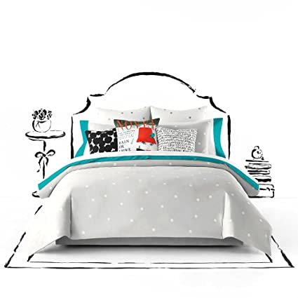 Amazon Com Kate Spade Deco Dot Polka Twin Xl Comforter Set Grey