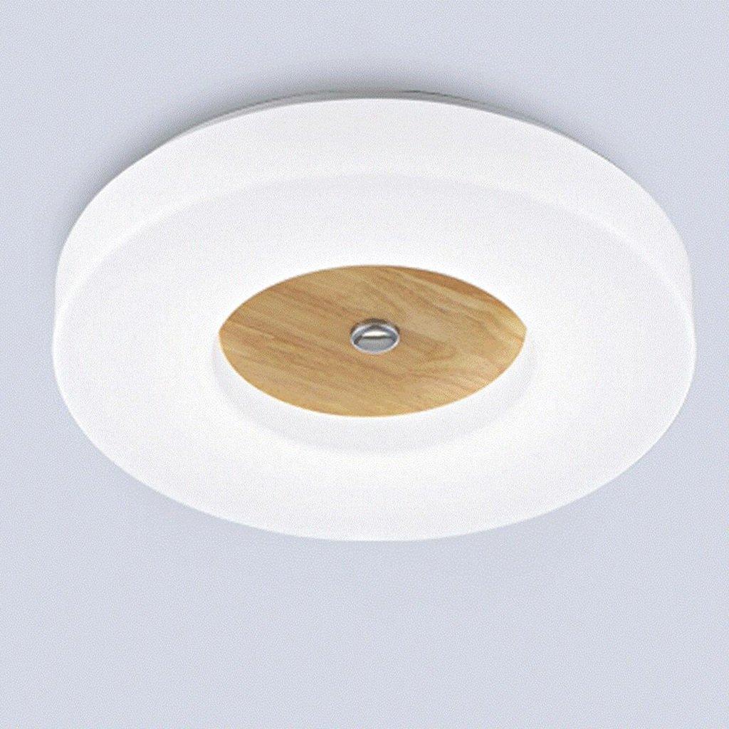 blanc 18w 35cm GYC -Plafond Luminaire LED Logs Plafonnier, Simple Moderne Salon en Bois Massif Balcon lumières de Chambre (Couleur   blanc, Taille   18w 35cm)
