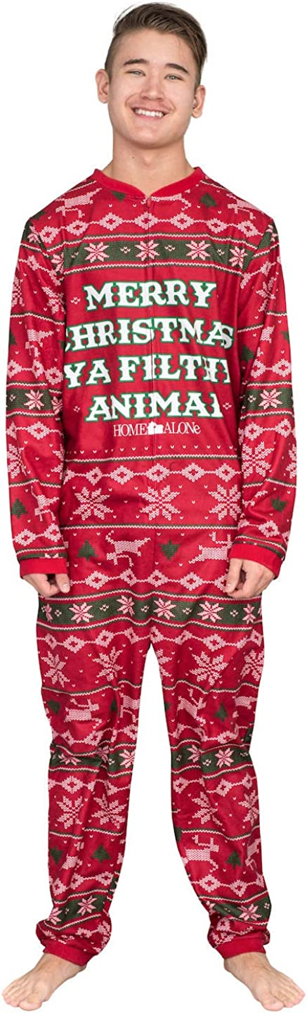 Home Alone Merry Christmas Ya Filthy Animal Red Pajama Union Suit