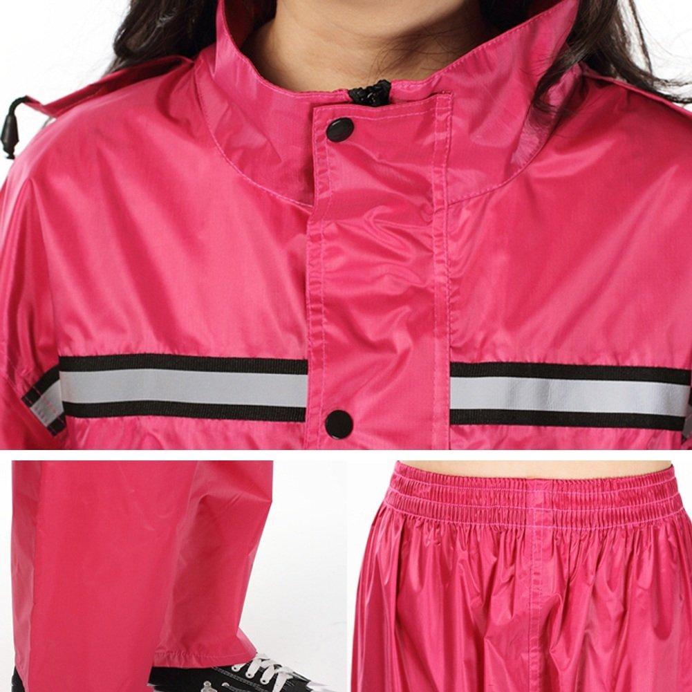 PENGFEI Incrementar Chubasqueros Chubasqueros Chubasqueros Ponchos Impermeable Chaqueta Pantalones De Lluvia Dividido Montar Al Aire Libre Individual Respirable Pareja, 2 Colores, 5 Tamaño (Color : Vino Rojo, Tamaño : XXL) fe7f96