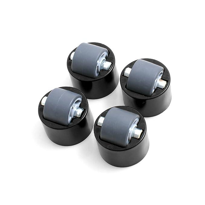 Deisgn61 - Las ruedas con tientos. Juego de 4 ruedas para muebles. Ruedas de muebles con banda de rodadura suave: Amazon.es: Bricolaje y herramientas