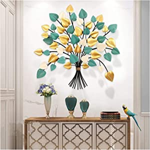 Three Color Leaves Wall Art,3D Stereo Leaf Metal Wall Decor,Modern Wrought Iron Wall Decoration,Creative Heart Shaped Colorful Leaves,contemporary Creative Hanging Artwork Ornament Smooth Durable Orna