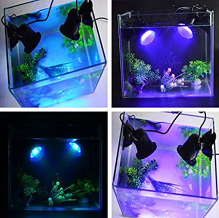 Asvert Luces de Acuario y Estanque LED Luces para Peceras Submersible Spotlight 36 LED Spot Underwater IP68 Waterproof RGB Aquarium Pond Tank Tank Lighting ...
