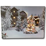 Amazon Price History for:Lighted Christmas Wall Art - 12 x 16 Canvas Print with Cardinals and Trees in an Outside Winter Scene - Winter Picture with LED Lights