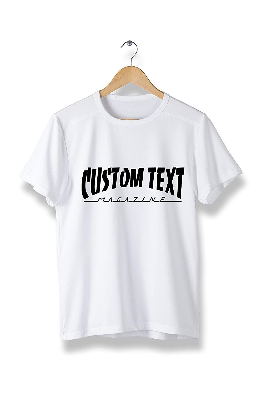 8ff99d83 Amazon.com: Custom Text Skate Magazine Thrasher Style - Unisex t-Shirt -  Cool Modern Personalized tees (Y05): Clothing