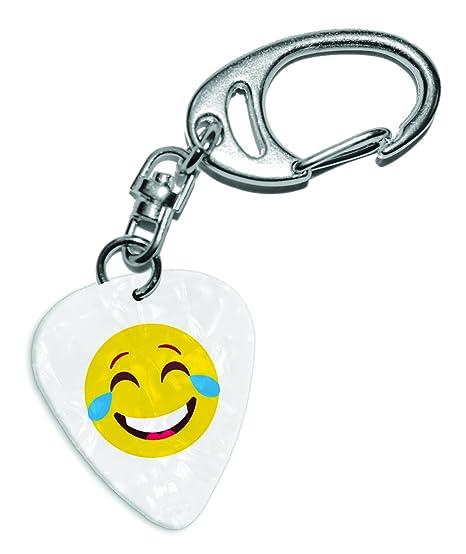 Lol reír Llorando lágrimas emoticonos blanco Pearl púa de ...