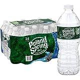 Poland Spring 100% Natural Spring Water, 16.9 oz Plastic Bottles (Pack of 24)