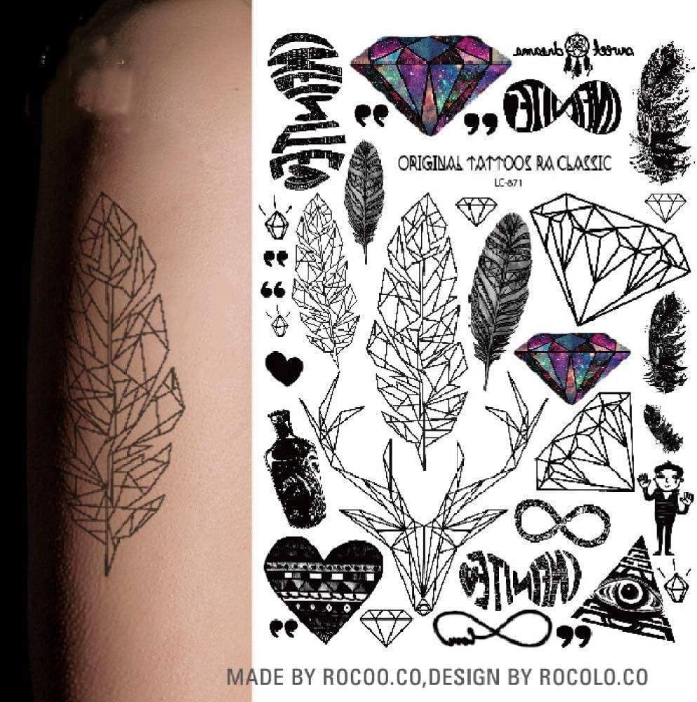 adgkitb 3 Piezas Multi Style Tatoo Sticker Colorido Tatuaje ...
