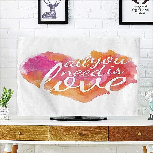 iprint LCD TV Cubierta de Polvo, Cita, filosófica Nunca Dejar de soñar Frases en Redondo Tribal Pluma Marco asiático Boho, diseño de impresión 3D Compatible 32 Pulgadas TV: Amazon.es: Hogar