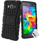 Avizar - Coque Protection Antichocs pour Samsung Galaxy Grand Prime - Bimatière Noir