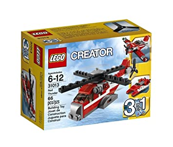 Amazoncom Creator Lego 66 Pcs Red Thunder 3 In 1 Brick Box