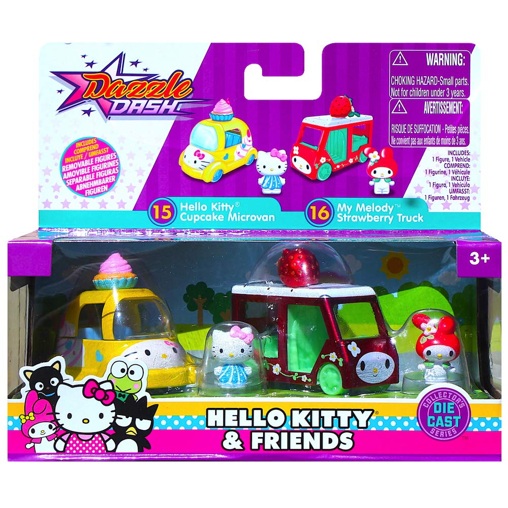 Hello Kitty Cupcake Microvan My Melody Strawberry Truck Metals Diecast Twin Pack
