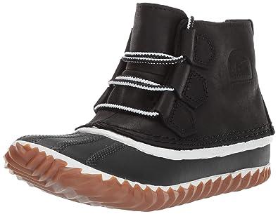 100% authentic 9d917 3c63c Sorel Women s Out N about Leather Rain Snow Boot, Black, ...