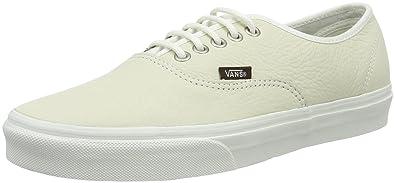 Vans Authentic, Zapatillas Unisex Adulto, Blanco (Leather), 41 EU