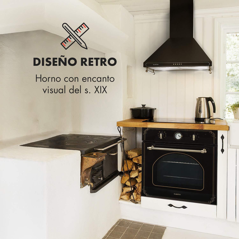 Klarstein Victoria Horno de cocina • Horno eléctrico • Diseño retro • 9 funciones • Autoapagado • 50-250°C • 70 litros • 10 alturas • Fácil de limpiar ...