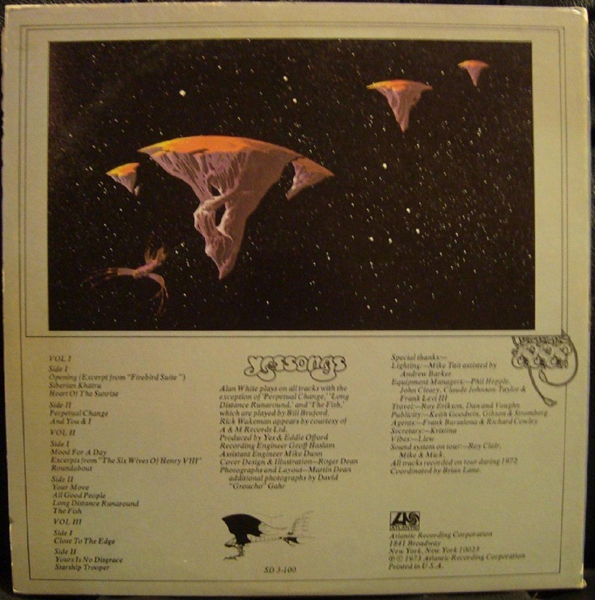Yessongs Original recording