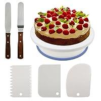 Plato giratorio para torta, artículos para decoración de tortas todo en uno con espátula de