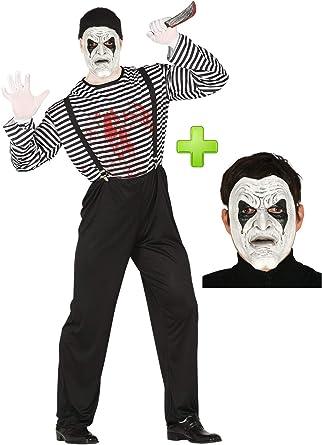 Disfraz de Mimo Asesino con mascara: Amazon.es: Ropa y accesorios
