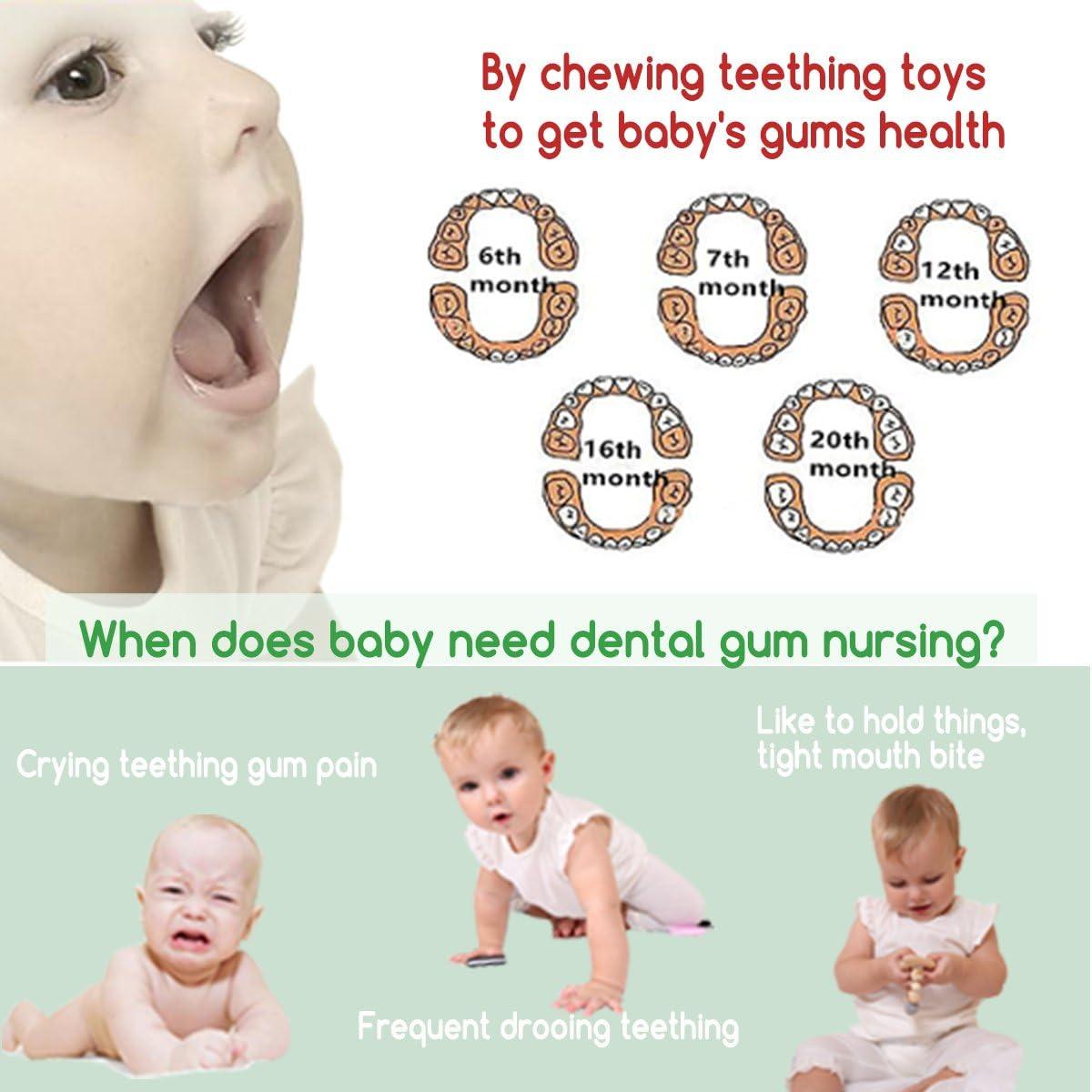 Best for baby Anillo de madera Cuentas de Ganchillo Collar de lactancia Juguete de dentici/ón para beb/és Juguete Montessori