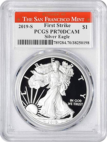 2020-W Proof $1 American Silver Eagle PCGS PR70DCAM Blue Label