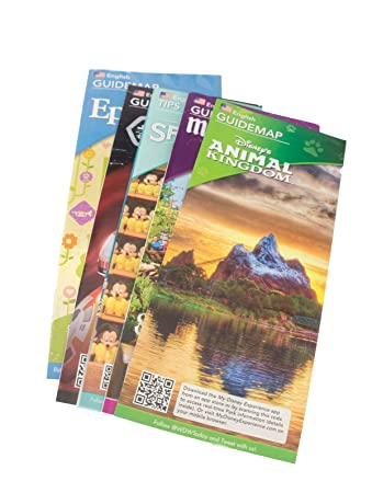 Walt Disney World Resort 4 Theme Parks Downtown Springs Vacation Planning  Guide Maps