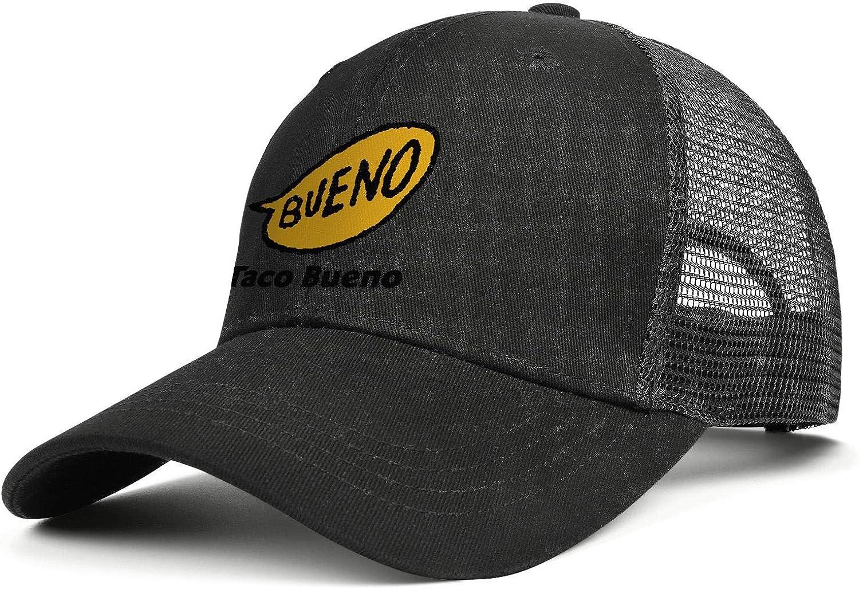 chenhou Unisex Taco Bueno Logo Hat Adjustable Fitted Dad Baseball Cap Trucker Hat Cowboy Hat