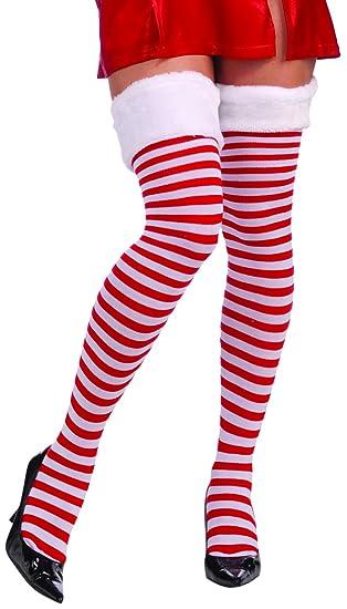 f40f9f142 Amazon.com  Forum Novelties Women s Christmas Thigh Highs with Fur ...