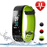 Letsfit Fitness Tracker Heart Rate Monitor, Color Screen Smart Watch Sleep Monitor, Step Counter, Calorie Counter, IP68 Waterproof Pedometer Watch Kids Women Men