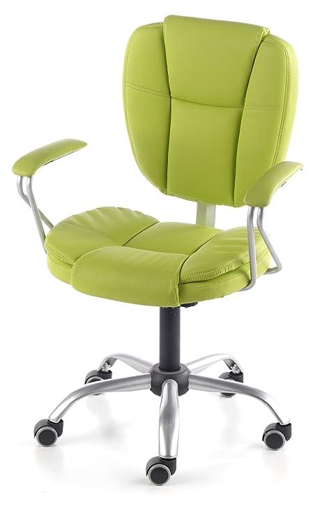 Due-home Silla de oficina juvenil, color verde