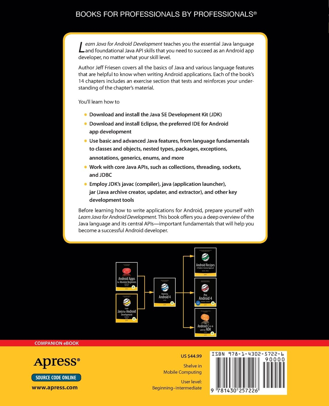 Learn java for android development learn apress amazon jeff learn java for android development learn apress amazon jeff friesen books baditri Images
