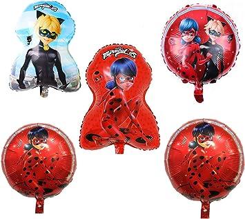 Amazon.com: FunBalloons - Ramo de globos de mariquita (5 ...