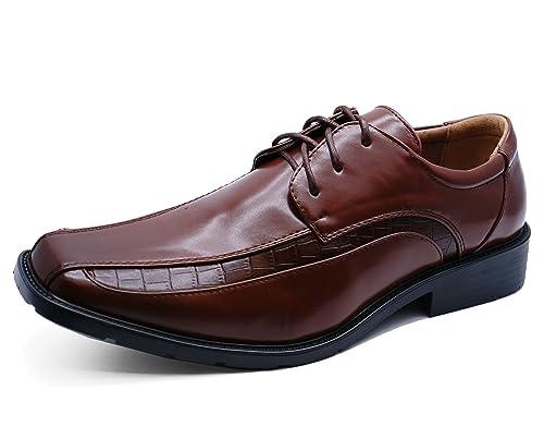 Hombre Marrón con Cordones Trabajo Boda Elegante Cómodo Mocasines Zapatos Formales Tallas 5-10 - Marron, 26 EU: Amazon.es: Zapatos y complementos