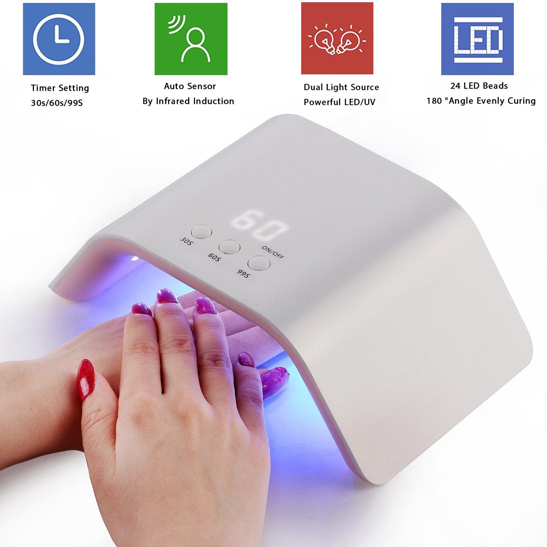 MAKARTT USB 24W LED UV Nail Dryer Curing Lamp for Fingernail Toenail Gels Based Polishes C-05