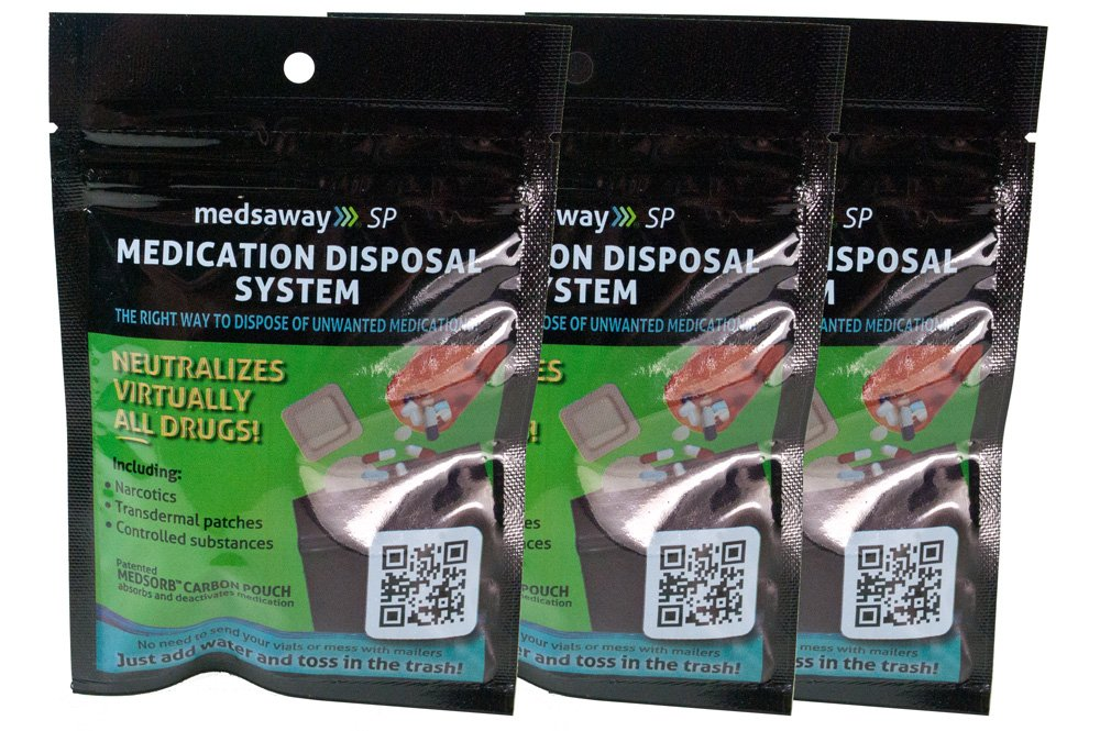 Medsaway Medication Disposal System - 3 Pack