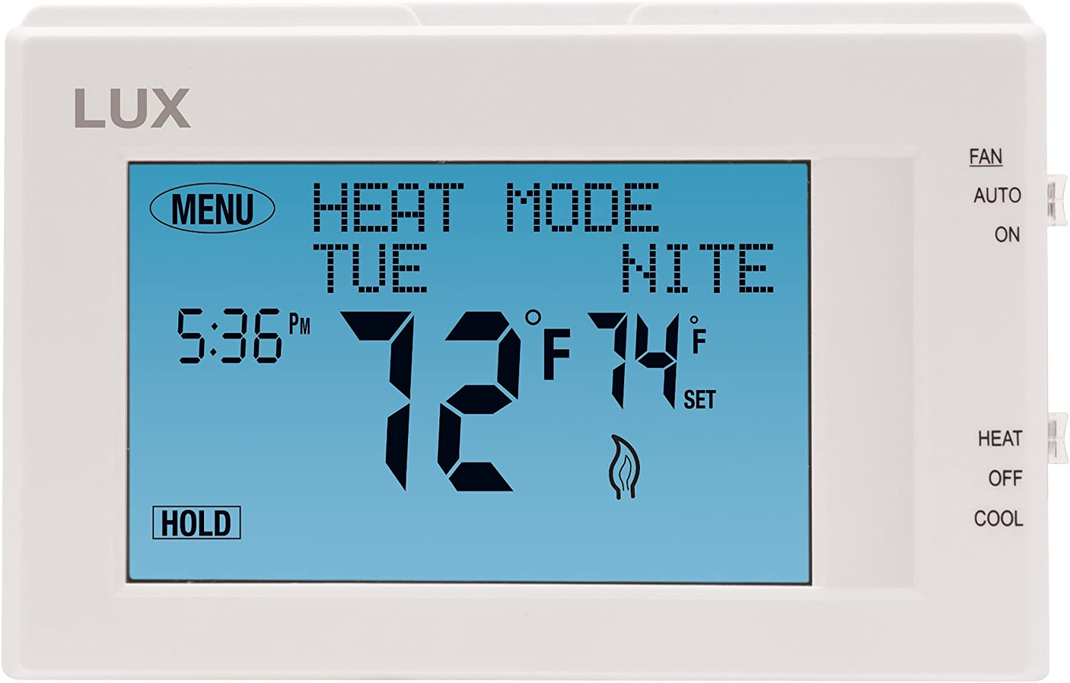 7-Day Touchscreen Thermostat Programmable Universal Installation Lux TX9600TS