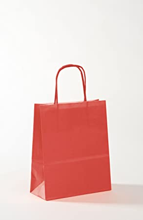 small red paper bags with handles