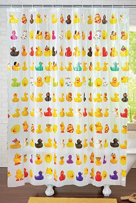 Duckies Peva Vinyl Shower Curtain