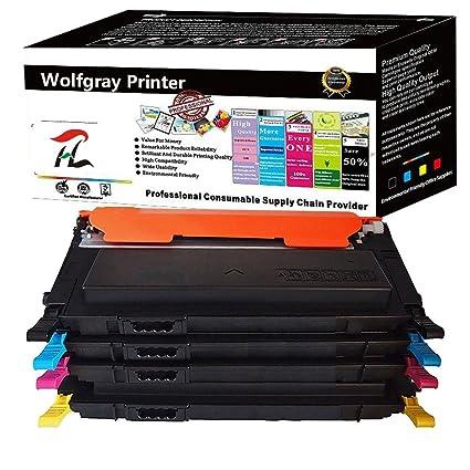 Amazon.com: Wolfgray CLT-406S CLT 406 Toner Cartridge(4 Pack ...