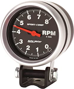 Auto Meter 3708 Sport-Comp Mini Competition Tachometer