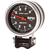 Auto Meter 3708 Sport-Comp Mini Competition Tachometer,2.625 in.