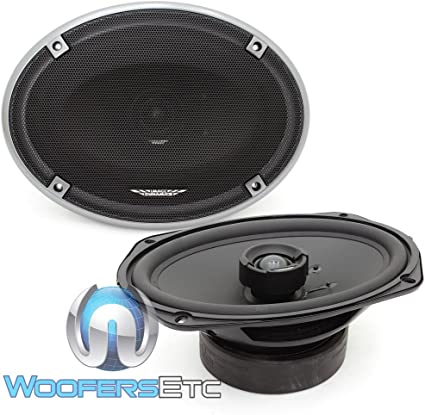 25mm Silk Tweeter Image Dynamics ID69 100W RMS 6x9 ID Series Full Range Coaxial System with 1 Pair