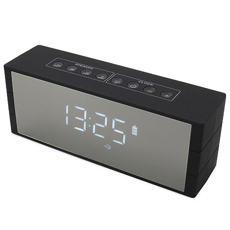 onvaya® Bluetooth Altavoz con Reloj Digital, 12 Horas de Tiempo de Parte de batería ...