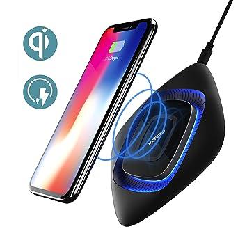 Cargador Inalámbrico Rápido, Wofalo Almohadilla de Carga Base de Carga para Samsung S7/S7 Edge/S8/S8 Plus/ Note 8, Qi-Habilitado Cargo Estándar para ...